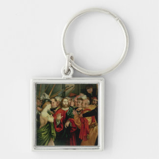 Christ and the Woman Taken in Adultery 2 Key Chain