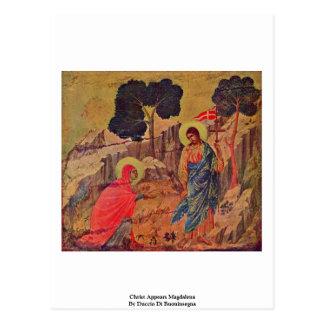 Christ Appears Magdalena By Duccio Di Buoninsegna Postcard