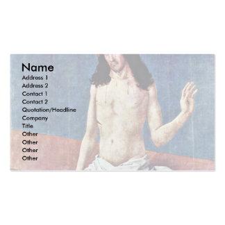 Christ As Man Of Sorrows By Frueauf D. Ä. Rueland Business Card Template