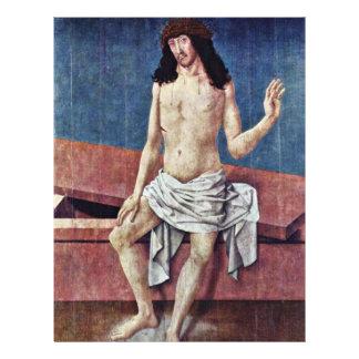 Christ As Man Of Sorrows By Frueauf D. Ä. Rueland 21.5 Cm X 28 Cm Flyer