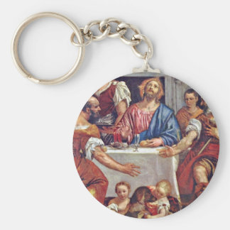 Christ At Emmaus By Veronese Paolo (Best Quality) Key Ring