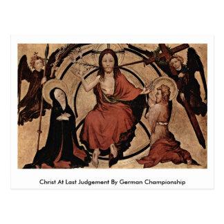 Christ At Last Judgement By German Championship Post Card