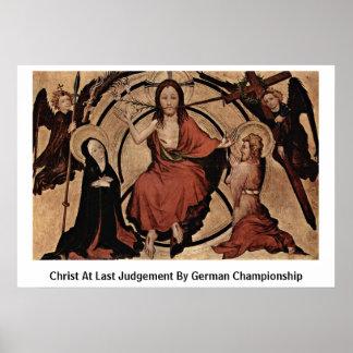 Christ At Last Judgement By German Championship Print