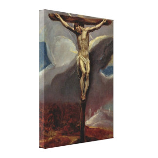 Christ At the Cross  by Eugene Greco Canvas Print