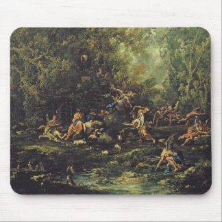 Christ Attended by the Angels, c.1725-30 (oil on c Mouse Pad