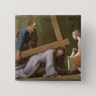 Christ Carrying the Cross, c.1651 15 Cm Square Badge