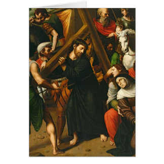 Christ Carrying the Cross Card