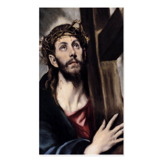 Christ Carrying the Cross circa 1580 Business Card Template