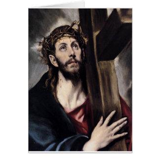 Christ Carrying the Cross circa 1580 Card