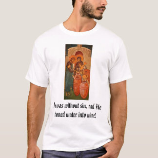 Christ Changing water to wine T-Shirt