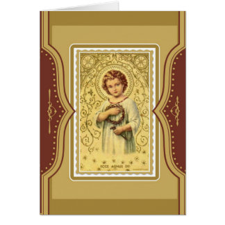 Christ Child Jesus  Mass Offering Memorial Card