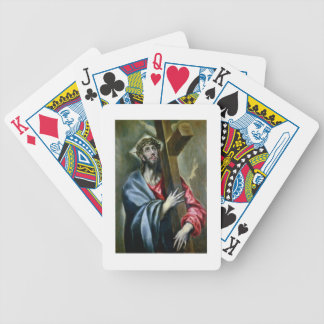 Christ Clasping the Cross, 1600-10 (oil on canvas) Poker Deck