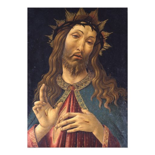 Christ Crowned with Thorns by Botticelli Invitation