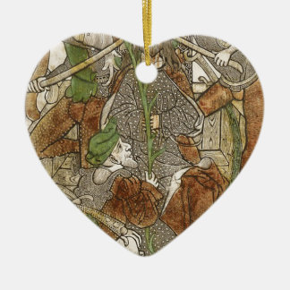Christ Crowned with Thorns Ceramic Heart Decoration