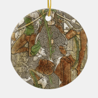 Christ Crowned with Thorns Round Ceramic Decoration