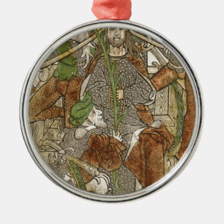 Christ Crowned with Thorns Silver-Colored Round Decoration