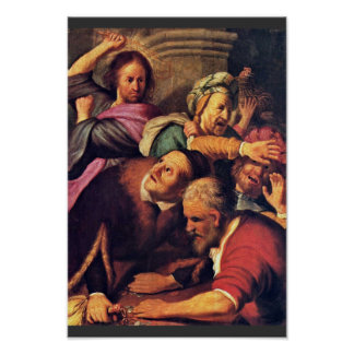 Christ Driving The Money-Changers From The Temple. Print