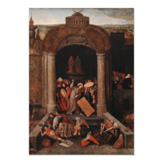 Christ Driving Traders from the Temple by Bruegel Custom Invitations