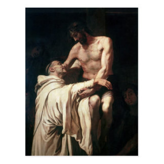 Christ Embracing St. Bernard Postcard