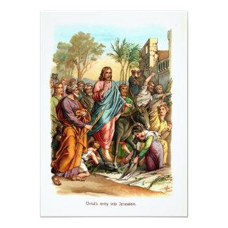 Christ Entering Jerusalem 13 Cm X 18 Cm Invitation Card