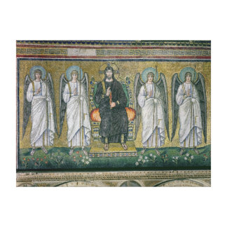 Christ enthroned with the angels canvas print