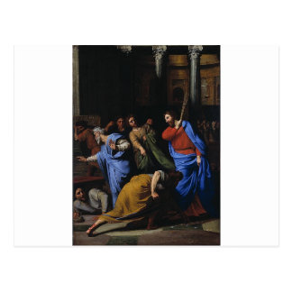 Christ Expelling the Money-Changers Postcard