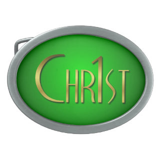 Christ First Oval Belt Buckles