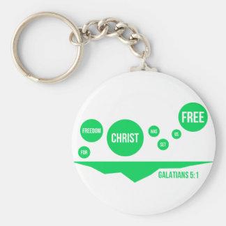Christ Has Set Us Free - Galatians 5:1 Key Ring