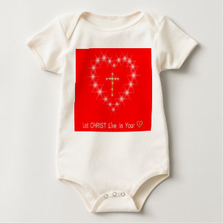 christ heart infant onsie creeper