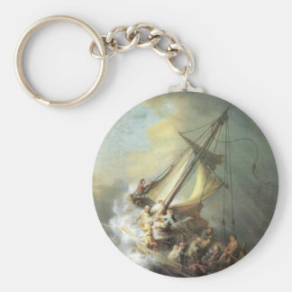 Christ in a storm on the sea of Galilee -Rembrandt Key Ring
