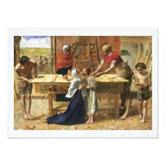 Christ in His Father's Carpenter Shop 14 Cm X 19 Cm Invitation Card