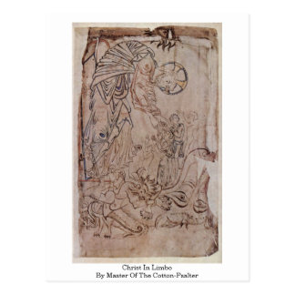 Christ In Limbo By Master Of The Cotton-Psalter Post Card