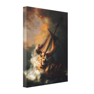 Christ In Storm On Lake Genezareth by Rembrandt Canvas Print