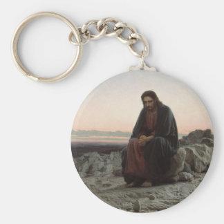 Christ in the Desert Basic Round Button Key Ring