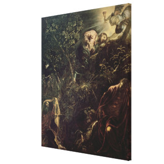 Christ in the Garden of Gethsemane 2 Stretched Canvas Print