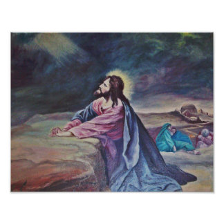 Christ In the Garden Of Gethsemane Poster