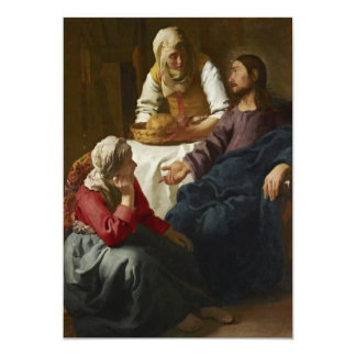 Christ in the House of Martha and Mary by Vermeer Custom Announcement