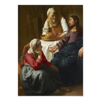 """Christ in the House of Martha and Mary by Vermeer 5"""" X 7"""" Invitation Card"""