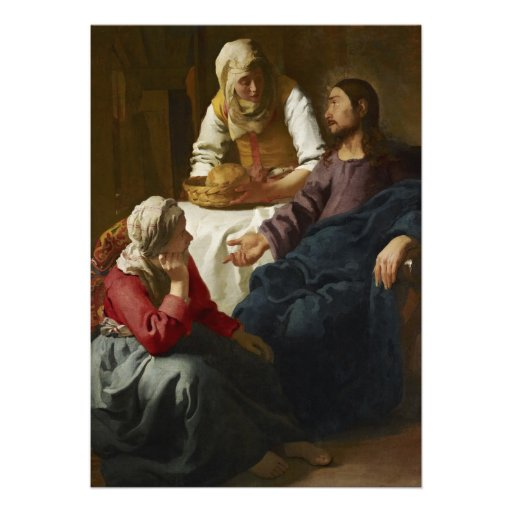 Christ in the House of Martha and Mary by Vermeer Cards