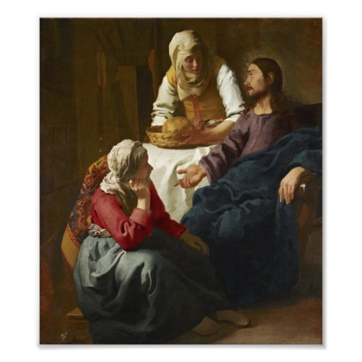 Christ in the House of Martha and Mary by Vermeer Photo Print