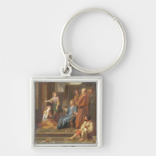 Christ in the House of Martha and Mary Key Chain