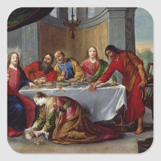Christ in the House of Simon the Pharisee Square Sticker