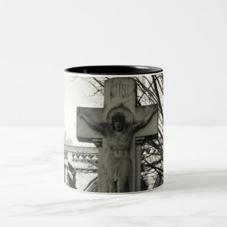 christ in town Two-Tone mug