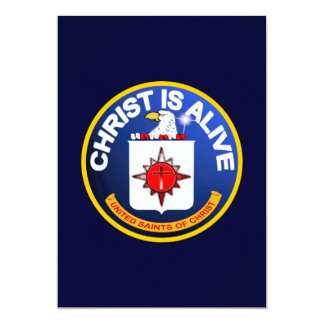 Christ Is Alive - C.I.A. icon look-alike 13 Cm X 18 Cm Invitation Card