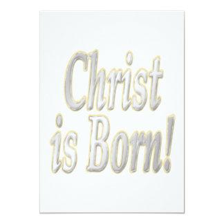 Christ Is Born 13 Cm X 18 Cm Invitation Card
