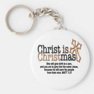 CHRIST IS CHRISTMAS KEY CHAIN