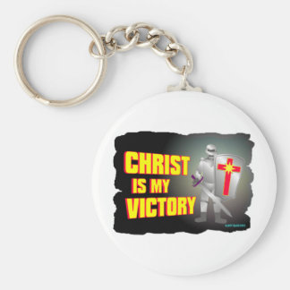 Christ is my victory religious design key chain
