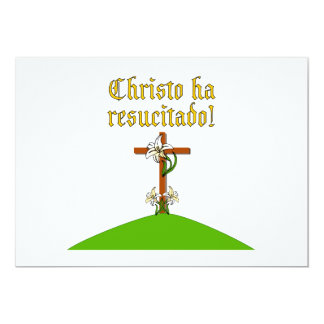 Christ is Risen 5x7 Paper Invitation Card