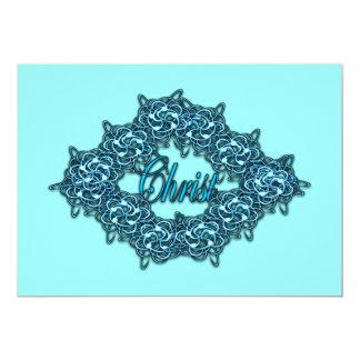 Christ is the Center - Ice Blue 13 Cm X 18 Cm Invitation Card