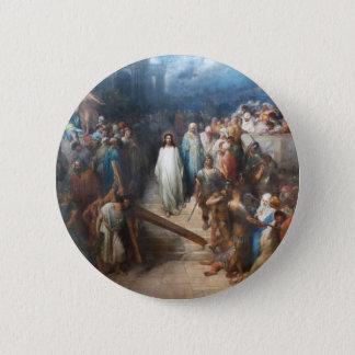 Christ Leaving Praetorium 6 Cm Round Badge